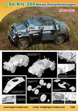 1/72 German WWII Armored Car Sd.Kfz.260 Small Armored car Model Kit