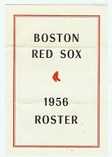 1956 Boston Red Sox Spring Training Roster and Schedule
