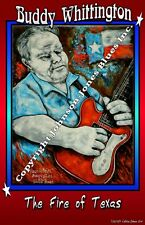 Poster of Buddy Whittington Signed Ltd. Edition by Cadillac Johnson