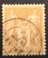 timbre france, n°86, 3c jaune type sage, Obl, TBC, cote 50e