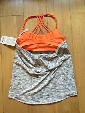 lululemon Women's  Size 10 Lighten Up Tank Tiger Space Dye Black White Piazza