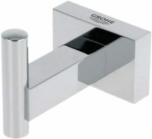 Grohe 40511001 Essentials Cube Robe Hook Chrome