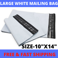 "Strong White Plastic Poly Postage Mailing Self Seal Bags 10"" x 14"" (250x350mm)"