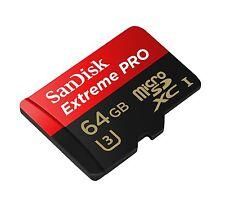 GENUINE 64GB Sandisk Extreme Pro MicroSD SDXC UHS U3 95MB/s 4K HD Go Pro S7 S8