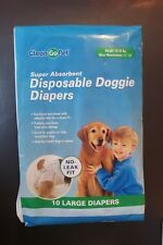 10 Large Disposable Doggie Diapers. Brand New. CleanGo Pets. Free SHIPPING Dog