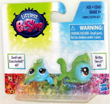 Littlest Pet Shop BFF Rainbow Sea Babies #7 Seafoam Dazzleshell #8 Brillia Beryl