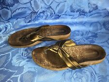 Rockport Sandals Toe Post Bronze Brown Size 5