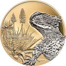 Sungazer Lizard Poof silver coin Cook Islands 2018