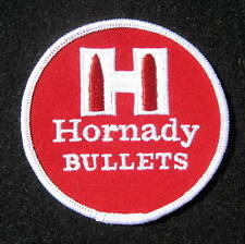 HORNADY BULLETS EMBROIDERED SEW ON PATCH AMMUNITION HUNTING FIREARM 3 1/2""