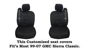 Black Scottsdale Custom seat covers Fit's 1999~2006 GMC SIERRA Truck's