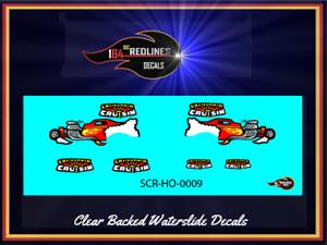 "HO Scale '57 Chevy Panel Van ""California Cruisin"" Decal Set SCR-HO-0009"