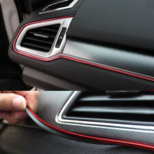 5M Red Car Chrome Interior Decoration Strip Door Vent Trim Moulding Styling