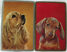 VINTAGE - SWAP/PLAYING CARDS x 2 DOGS COCKER SPANIEL & DACHSHUND