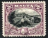 Malta1930 postage & revenue black/purple 2/- used SG205
