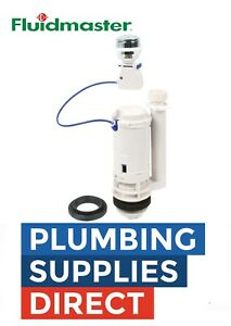 "Fluidmaster PRO550UK Cable Push Button Dual Flush Valve 1 1/2""  2"" Cistern Spare"