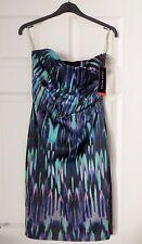 BNWT Exquisite KAREN MILLEN Marble Print BODYCON DRESS SIZE EU 38 UK 10 RRP £160