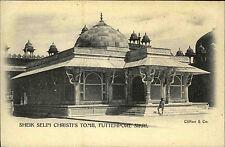 INDIEN British India um 1900 FUTTEHPORE Sheik Selim Tomb Vintage Postcard Asien