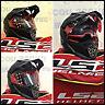 CASCO Helmet Motard LS2 MX436 PIONEER SOLID NERO OPACO