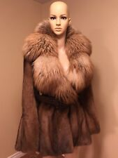 Vericci Women Natural Fox Mink Coat Jacket  Size S US /  size 42 EURO.