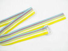 NEW Polo Ralph Lauren Classic Grosgrain Repp Stripe Belt! S  Yellow  Made in USA