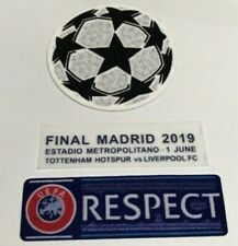 Champion League Tottenham Hotspur Final Madrid 2019 Patch Printing Set Respect