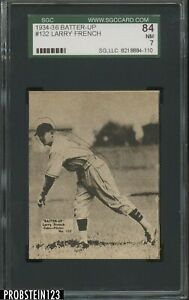 1934-36 Batter-Up #132 Larry French Chicago Cubs SGC 84 NM 7