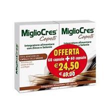 MIGLIOCRES CAPELLI - DONNA- DOPPIA 120 CPS - CISTINA, METIONINA, ZINCO, RAME