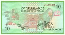COOK ISLANDS - 10 DOLLARS - 1992 - P-8 - UNC - REAL FOTO