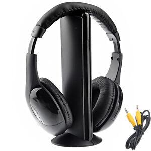 HiFi Casque sans Fil Radio FM, MP3, PC, TV, Audio pour téléphone Portable