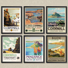 Vintage Posters: Cornwall Cornish St Ives St Michaels Mount Bude Carbis Penzance