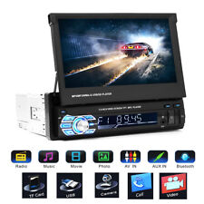 7'' 1080P HD MP5 MP3 Touch Screen Bluetooth FM Player Car 1 DIN Stereo Radio New