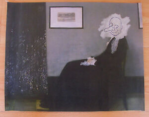 MR BEAN WHISTLERS MOTHER CANVAS PRINT POSTER PHOTO WALL ART DECOR FUNNY MOVIE