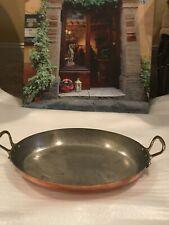 ANTIQUE STAMPED FRENCH COPPER ROASTING POT MEDIUM PAN