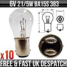 6v 21/5w BA15D Stop & Tail Bulbs 383 x 10