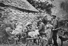 Ovejas Esquilar llanymawddwy Merioneth 1899 Vintage Impresión Gales ascendencia de tapa dura