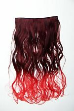Extension Hair Extension Clip-In 5 clip lockig bi-coloured Ombre Rot 50cm lang