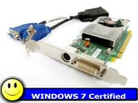 Dual Monitor Windows 7 PCI Express x16 Video Card for Tower and Desktop PCs DELL