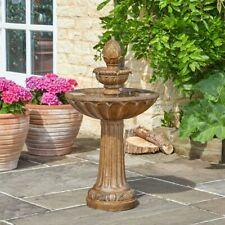 Solar Power Outdoor Queensbury Cascade Water Fountain Feature | Garden Bird Bath