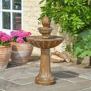 Solar Power Outdoor Queensbury Cascade Water Fountain Feature | Bird Bath