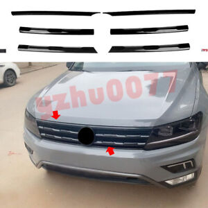 2018-2021 For Volkswagen Tiguan ABS Black Front Center Grille Strip Cover Trim