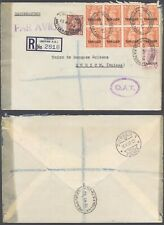 Morocco Agencies 1952 - Registered Cover Tangier to Zurich Switzerland OAT D45