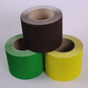 Spring Time Colour Wall Board Display Border Corrugated Card Roll Edging 3 Pack