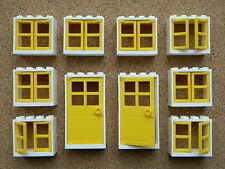LEGO windows and doors for house (pack of 10) 2x4x3 white yellow yello BRAND NEW