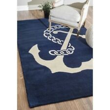 nuLOOM 4' X 6' Hand Tufted Set Sail Rug in Navy