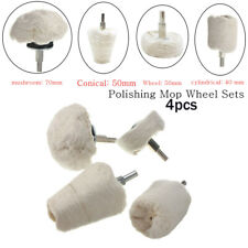 4xAluminum Polishing Buffing Pad Mop Wheel Drill Kit for Car Polisher Cleanning