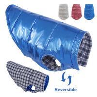 Hundemantel Wasserfest Hundejacke Wintermantel Klein Hundekleidung Blau XS-XL