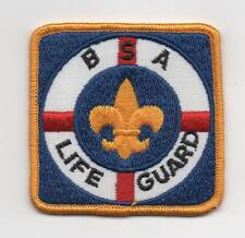 """BSA Life Guard Patch, """"Since 1910""""  Backing, Mint!"""