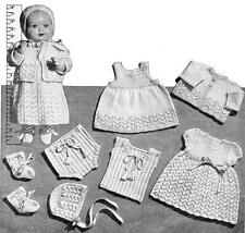 "PEDIGREE/ BABY DOLL Layette 18"" - COPY doll knitting pattern"