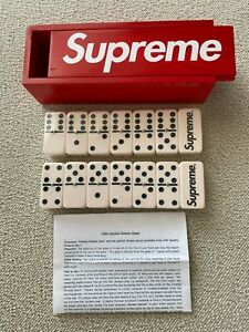 Supreme Block Dominoes Game Set 2012 Wood Box Logo Collaboration Model