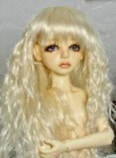 Long Platinum blonde wavy doll wig, size 6-7 fits Ellowyne Wilde, Evangeline etc